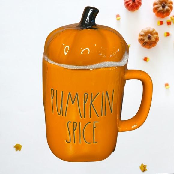 Rae Dunn Pumpkin Spice Mug With Pumpkin Topper